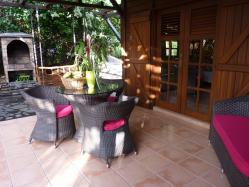 location maison Guadeloupe - Terrasse coin repas P'tite Anse